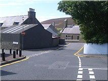 HU4039 : Road junctions in Scalloway by Nick Mutton