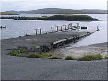 HU2449 : Walls slipway by Nicholas Mutton