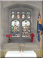 SJ3657 : Memorial window, St Mary's Church, Rossett by Eirian Evans