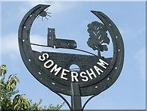 TM0848 : Somersham village sign by Keith Evans