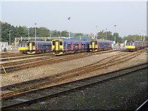 SX9193 : Railway depot, Exeter St David's by Roger Cornfoot