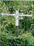 SO8685 : Signpost at Stourton Junction, Staffordshire and Worcestershire Canal by Roger  Kidd