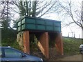 TG1141 : Ex Bungay station water tower at Weybourne station by Ashley Dace