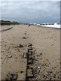 TG3930 : Sunken steel sheet pilings by Evelyn Simak