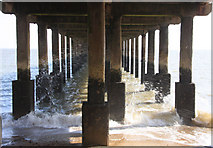 TM3034 : Under the pier by Bob Jones