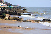 TM3034 : Concrete groynes at Felixstowe by Bob Jones