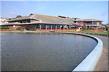TM2934 : Boating pool and Leisure Centre by Bob Jones