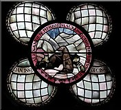 TQ3480 : St Peter's London Docks, Wapping Lane - Window of Fr Mackonochie by John Salmon