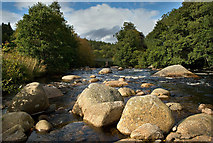 NO3492 : River Muick at Mill of Sterin by Nigel Corby