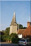 TR1859 : Church tower, Fordwich by N Chadwick