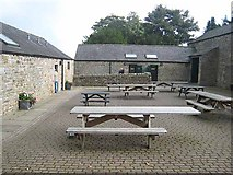 NY6166 : Courtyard at Birdoswald Visitor Centre by Oliver Dixon