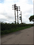 TF9331 : Electricity poles by Evelyn Simak