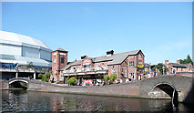 SP0586 : The Malt House at Old Turn Junction, Birmingham Canal Navigations by Roger  Kidd