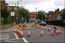 TQ2789 : Roadworks on East End Road by Martin Addison