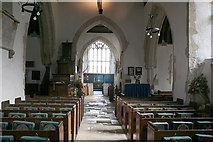 SY1988 : Branscombe: interior, St Winifred's church by Martin Bodman