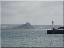 SW4730 : Lighthouse, Penzance harbour by Chris Allen