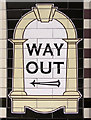 TQ3186 : Way Out sign, Arsenal Station, London N4 by Christine Matthews