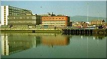 J3474 : The River Lagan, Belfast (1990) (2) by Albert Bridge